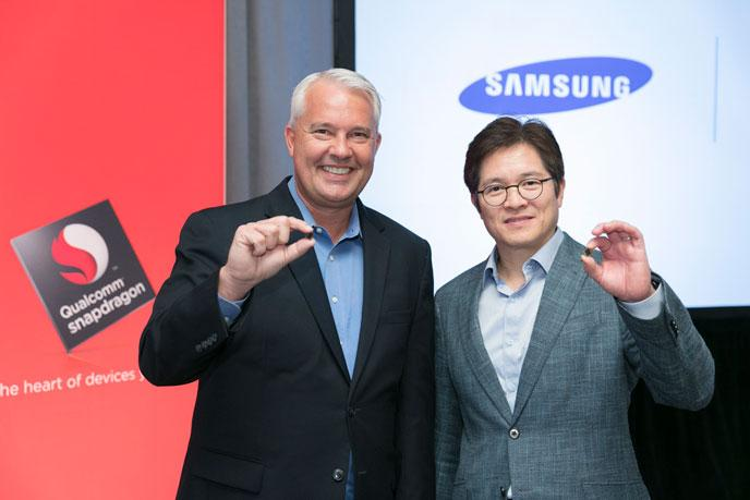 Keith Kressin Qualcommilta ja Ben Suh Samsungilta esittelivät Snapdragon 835 -uutuuspiiriä viime marraskuussa.