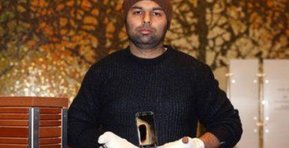 Amarjit Mann ja räjähtänyt Galaxy S7.