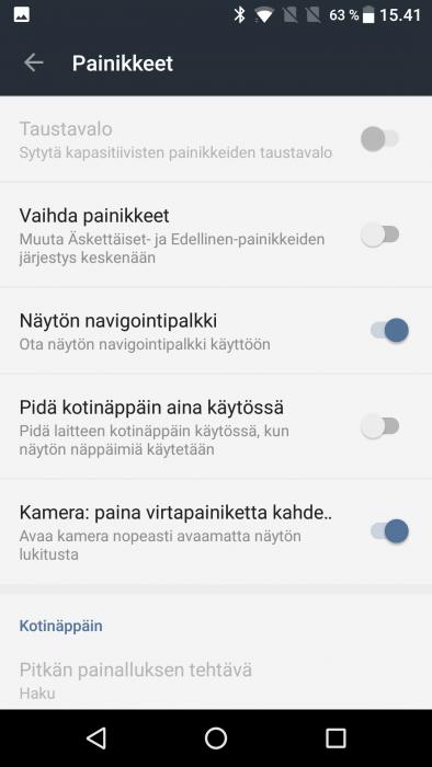 OnePlus 3T asetukset