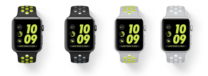 Apple Watch Nike+:n eri versiot.