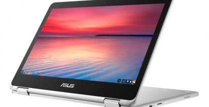 Asus Chromebook Flip 2:n näyttö kääntyy 360 astetta.