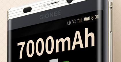 Gionee M2017:ssä on panostettu akkuun.