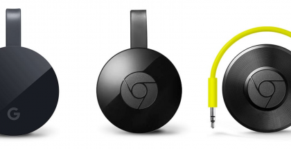 Google Chromecast Ultra + Chromecast 2 + Chromecast Audio.