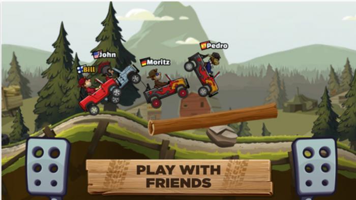 Nyt myös iPhonelle saatavan Hill Climb Racing 2:n suurin uudistus on moninpeli.
