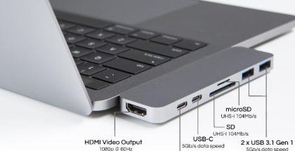 HyperDrive tuo MacBook Prohon paljon lisää liitäntämahdollisuuksia.