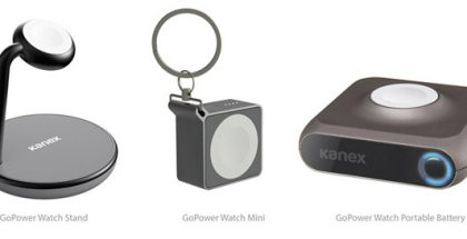 Kanexin Apple Watch -laturi monessa eri muodossa.