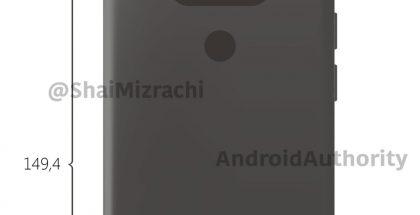 LG G6:n muotoilun päälinjat paljastuvat Shai Mizrachin yhteistyössä Android Authorityn kanssa julkaisemassa kuvassa.