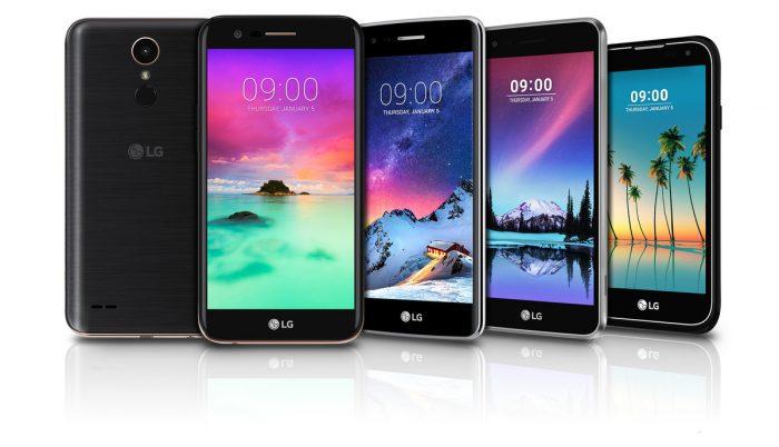 LG:n uudet K-sarjalaiset K10, K8, K4 ja K3.