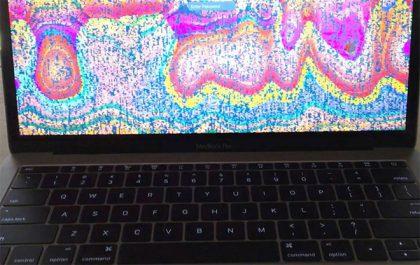 MacBook Pron näyttö voi seota varsin näyttävän näköisesti.