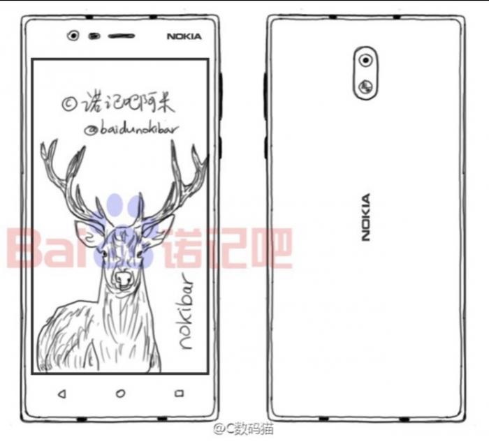 Nokia E1 -piirros.