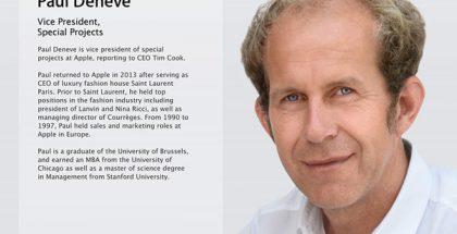 Paul Deneve toimi aiemmin erikoishankkeiden johtajana Applella.