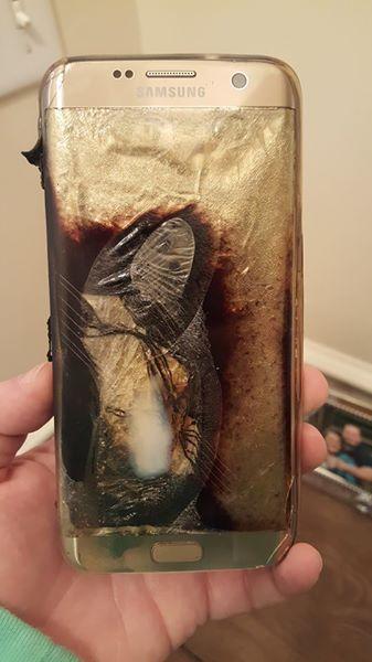 Samsung Galaxy S7 edge räjähdys