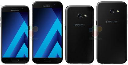 4,7 tuuman Galaxy A3 (2017) ja 5,2 tuuman Galaxy A5 (2017).
