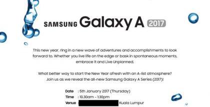 Samsung on julkistamassa Galaxy A 2017 -uutuutensa.
