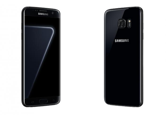 Samsung Galaxy S7 edge Pearl Black.