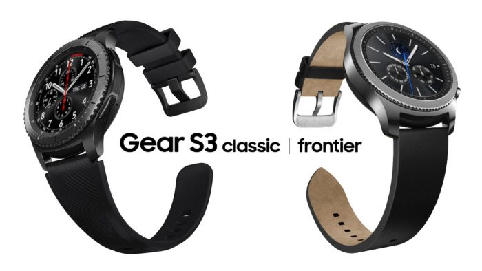 Samsung Gear S3 Classic ja Gear S3 Frontier.