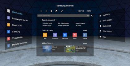Samsung päivitti Gear VR:n nettiselainta.