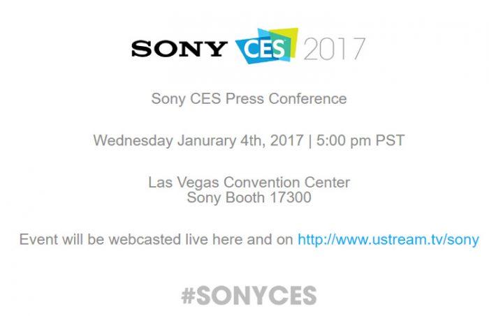 Sony järjestää tilaisuuden CES-messujen yhteydessä niiden aattona 4. tammikuuta.