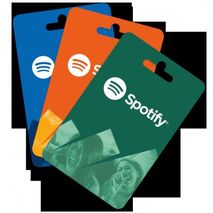 Spotify-lahjakortteja.