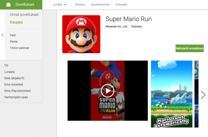 Super Mario Run Google Playssa.