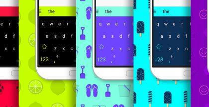 SwiftKey sai myös uusia värikkäitä teemoja.