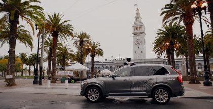Uberin San Franciscossa käyttämä itseajava Volvo.