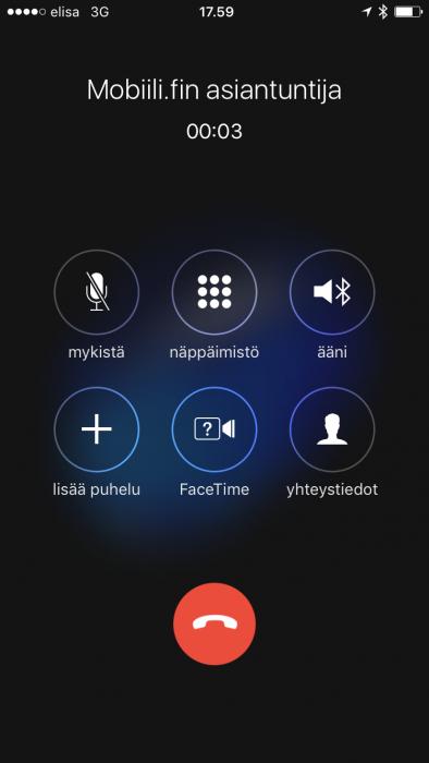 """Myös iPhonella voi puheluäänen siirtää eri ulostuloon. Valitse ensin """"Ääni""""..."""