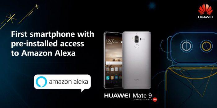Huawein Mate 9 on ensimmäinen Amazonin Alexalla varustettu puhelin.