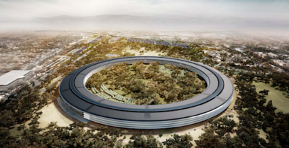 Visiokuva Applen uudesta pääkonttorista.