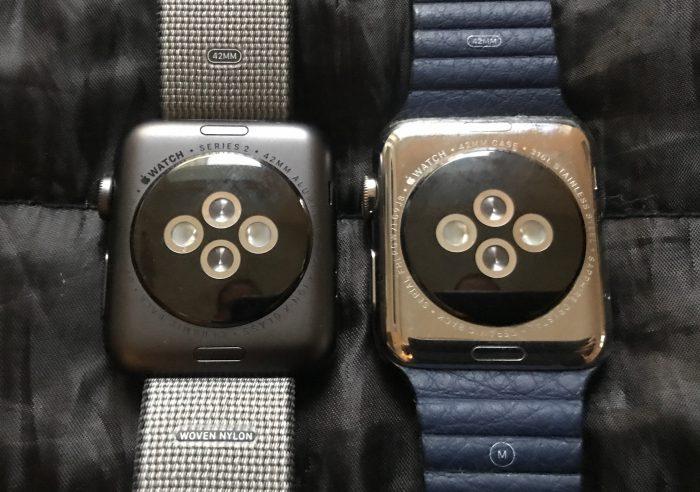 Apple Watch Series 2 on itse asiassa hieman paksumpi mutta käytännössä ero on huomaamattoman pieni.