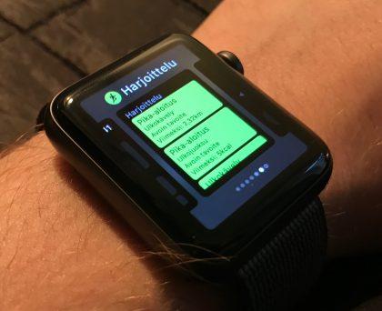Apple Watch Series 2:lla voi seurata lenkkinsä myös ilman iPhonea mukana.