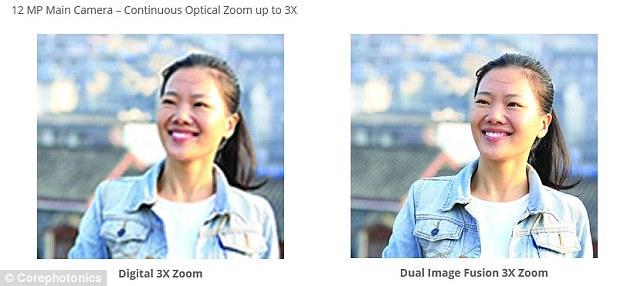 Corephotonics havainnollistaa optisella zoomilla saavutettavan paljon digitaalista eli ohjelmistollista rajausta parempia tuloksia.