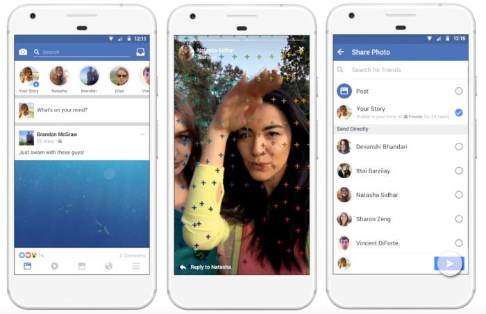 Facebook Stories toimii aivan kuin Instagram Stories.