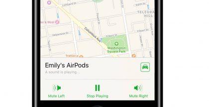 iOS 10.3 tuo toiminnon kadonneiden AirPods-kuulokkeiden etsimiseen osaksi Etsi iPhone -sovellusta.