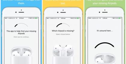Finder for AirPods mahdollisti kuulokkeiden paikantamisen.
