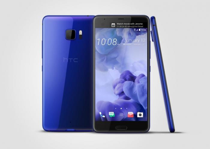 HTC U Ultra sinisenä.