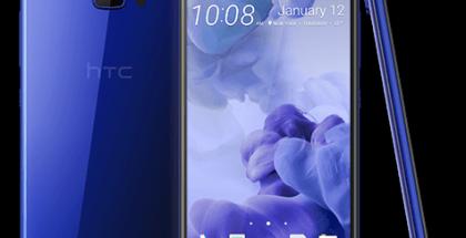 HTC U Ultra sinisenä. Huomionarvoista lisänäyttö.