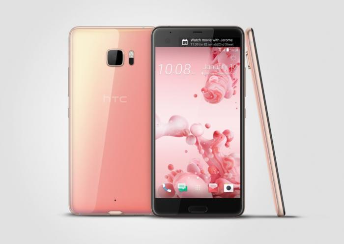 HTC U Ultra pinkkinä.
