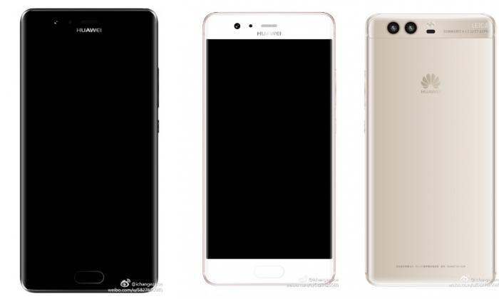 Väitettyjä lehdistökuvia Huawei P10:stä.
