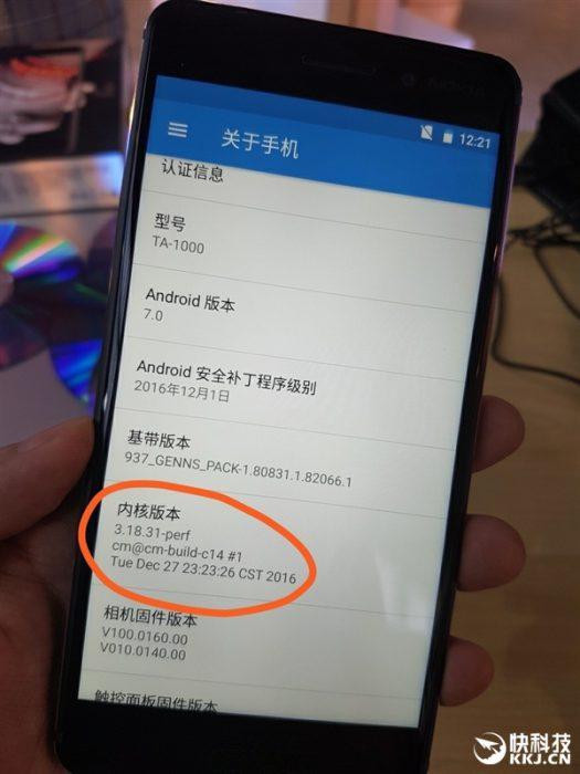 Nokia 6 näyttää perustuvan CyanogenModille.