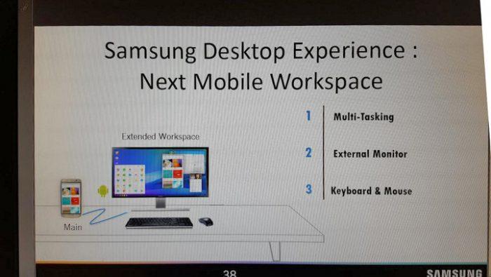 Samsung Desktop Experience Galaxy S8