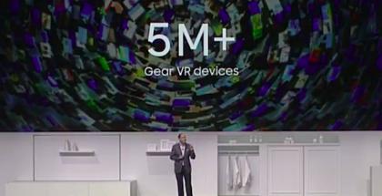 Samsung kertoi toimittaneensa yli 5 miljoonaa Gear VR -laitetta.