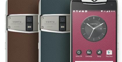 Tuoreimpiin Vertu-puhelimiin kuuluvan Constellationin värivalikoimaa.