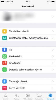 WhatsApp varmuuskopiointi
