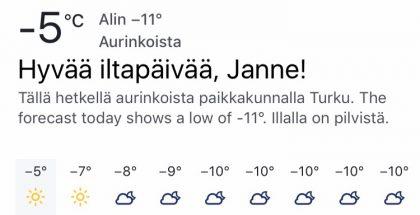 Facebook sää