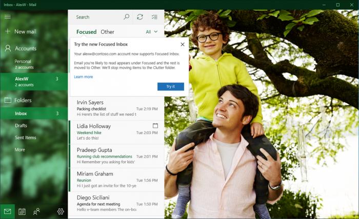 Windows 10 Mail Kalenteri