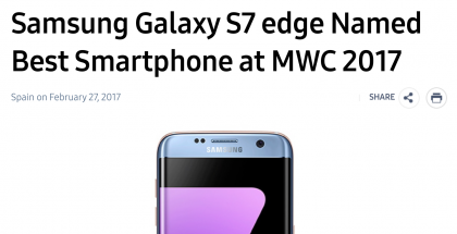 Samsung Galaxy S7 Global Mobile Awards