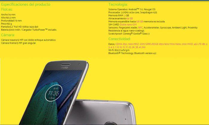 Motorola-Moto G5 Plus vuoto