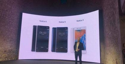 Alkuperäiset Nokia 3, Nokia 5 ja Nokia 6 julkistettiin viime vuoden helmikuussa.