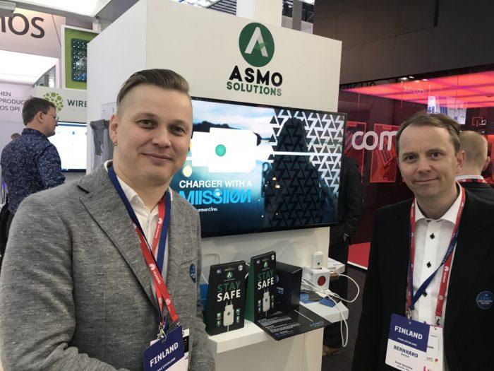 Asmo-laturi on edustettuna Suomi-osastolla Mobile World Congressissa.